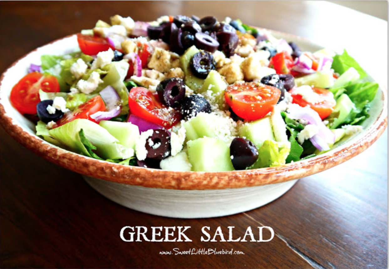 Салат греческий домашних условиях рецепт с