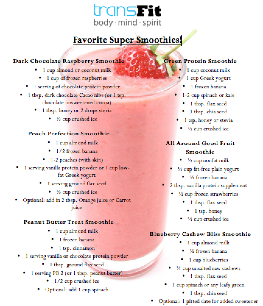 healthy smoothie recipes | TransFit