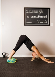 Downward facing dog is a great exercise to qquickly snap those arms in shape!