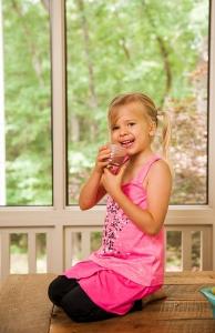 Lyla enjoying her delicious smoothie!